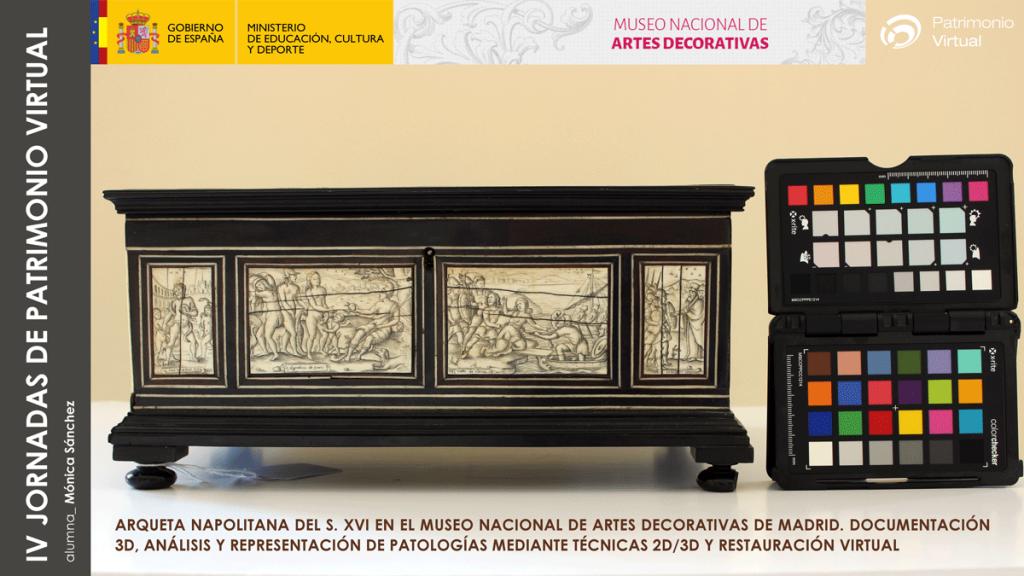Restauración virtual de arqueta napolitana del s. XVI