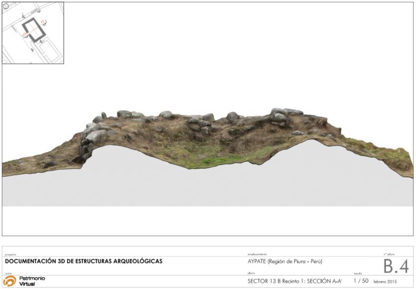 Documentación 3D de la ciudad inca de Aypate (Perú)