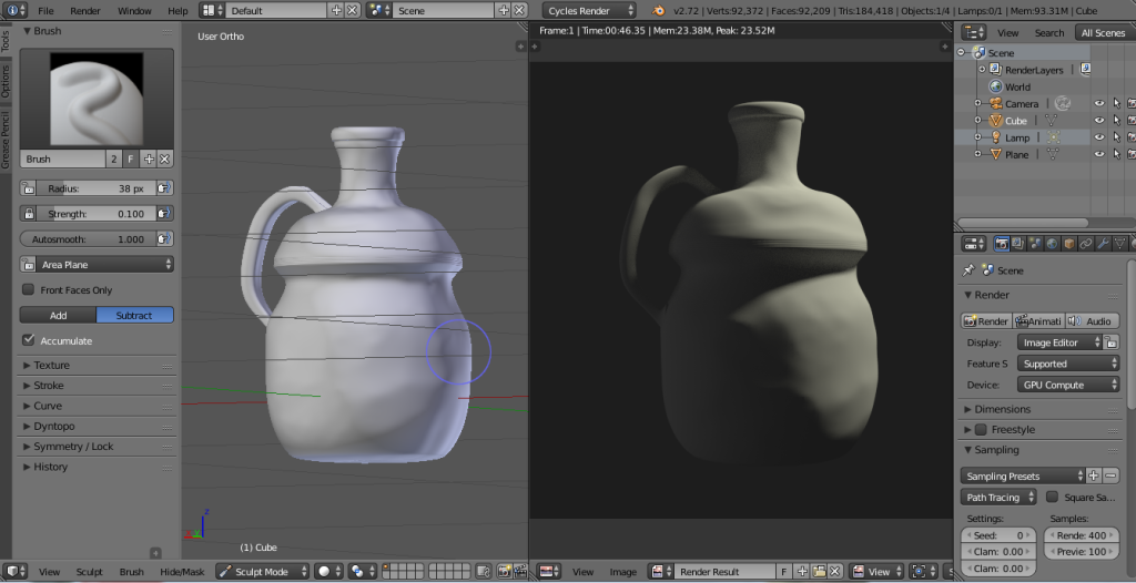 Esculpido Digital con Blender