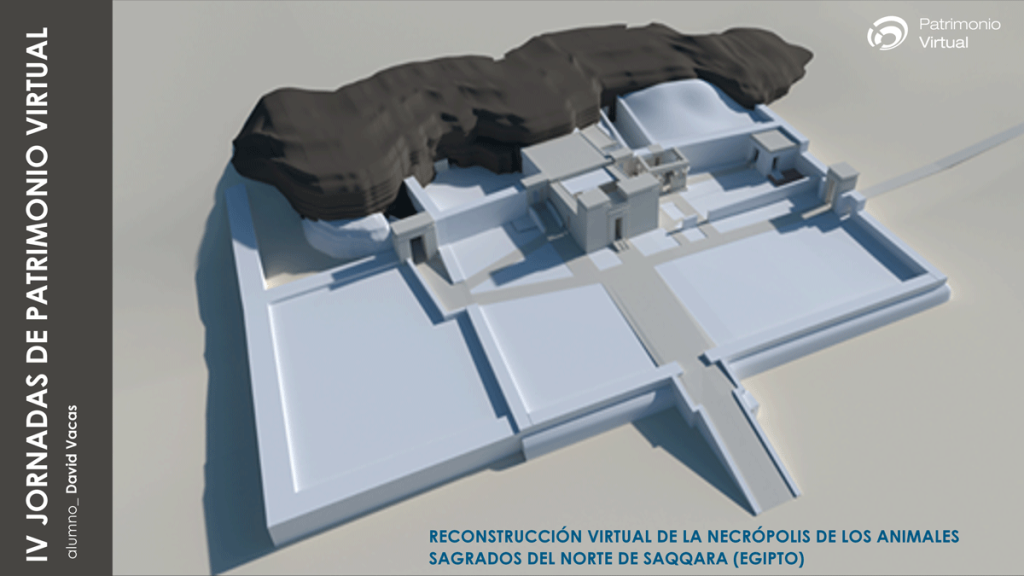 Reconstrucción virtual de la necrópolis de los animales sagrados de Saqqara