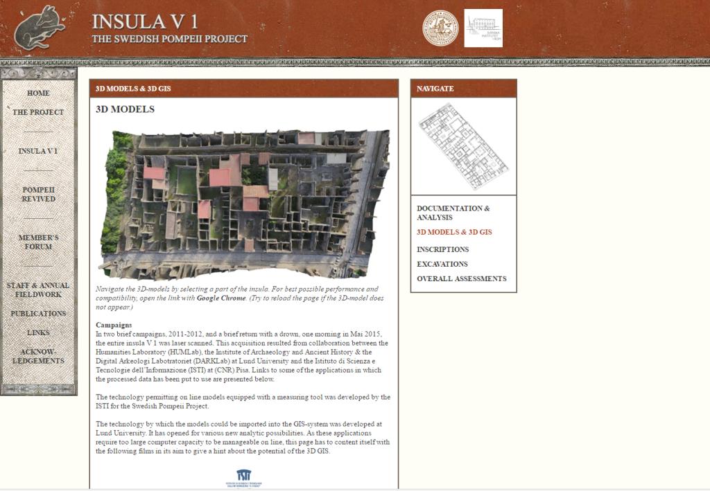 Virtualización del Patrimonio Pompeya