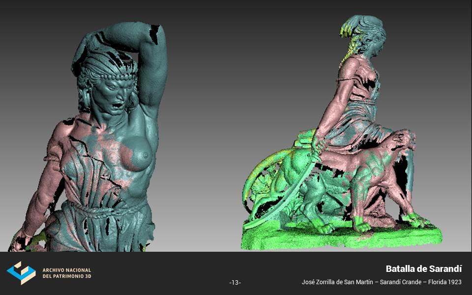 Proceso de digitalización escultura