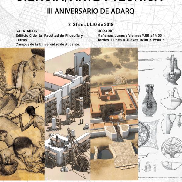La exposición Dibujo arqueológico: Ciencia, Arte y Técnica de ADARQ en la Universidad de Alicante