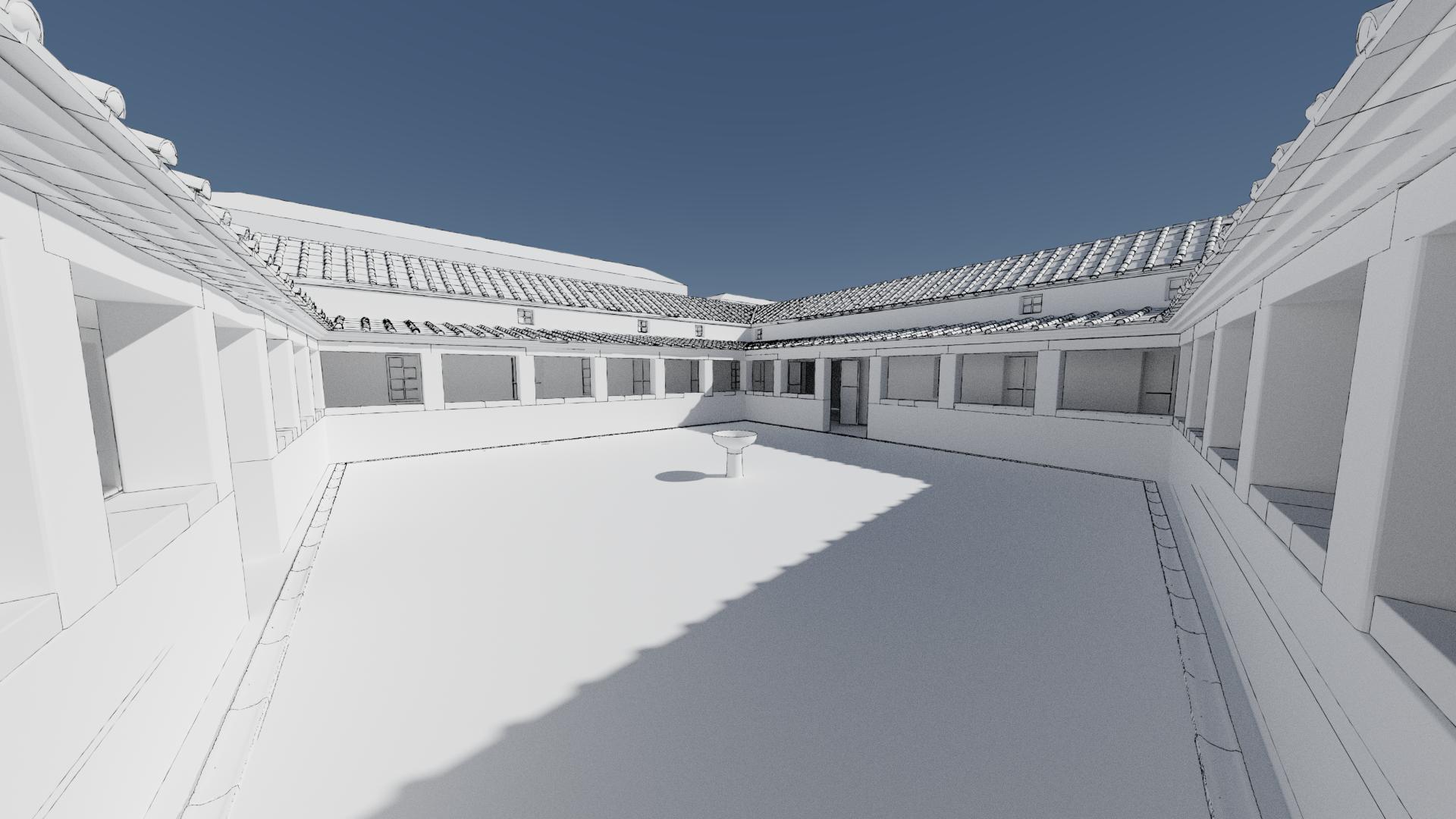modelado villa romana